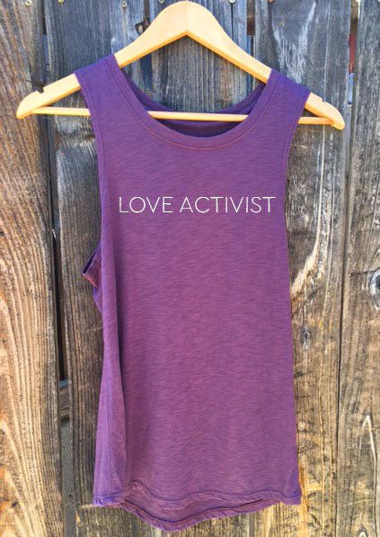'LOVE ACTIVIST' PERFECT TANK TOP - FIG