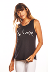 'BE LOVE' - Perfect Fit tank - Vintage Black