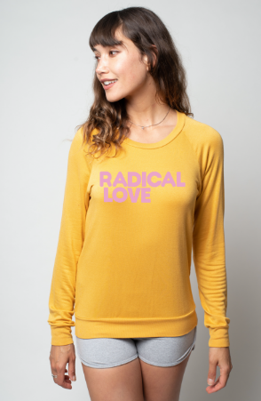 'RADICAL LOVE' Turmeric - Ultra Soft Raglan
