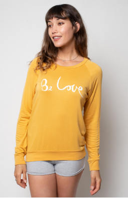 'BE LOVE' ULTRA-SOFT RAGLAN - TURMERIC