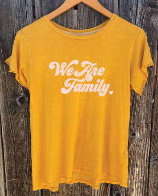 'WE ARE FAMILY' ALL PROFITS SUPPORTING UNTIL FREEDOM-Coral