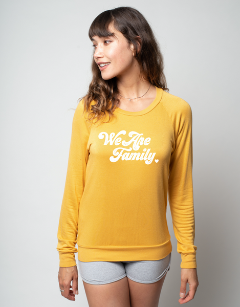 'WE ARE FAMILY' - ULTRA SOFT RAGLAN - ALL PROFIT SUPPORTING UNTIL FREEDOM.