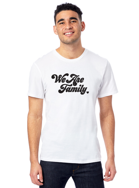 'WE ARE FAMILY' ORGANIC TEE - SUPPORTING UNTIL FREEDOM & BLACK LIVES MATTER'