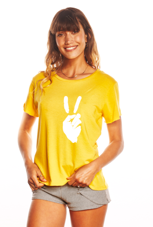 'PEACE SIGN' - PERFECT TEE - SUNSHINE