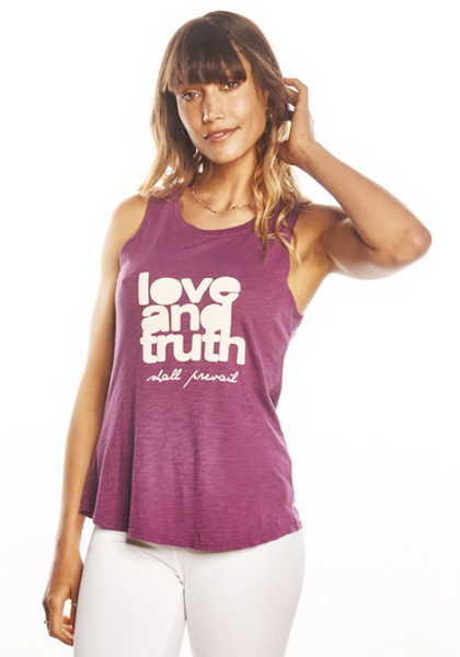 'LOVE & TRUTH SHALL PREVAIL' PERFECT TANK TOP