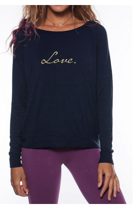 'LOVE' ULTRA SOFT RAGLAN PULLOVER