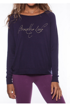 'BREATHE LOVE' ULTRA SOFT RAGLAN PULLOVER