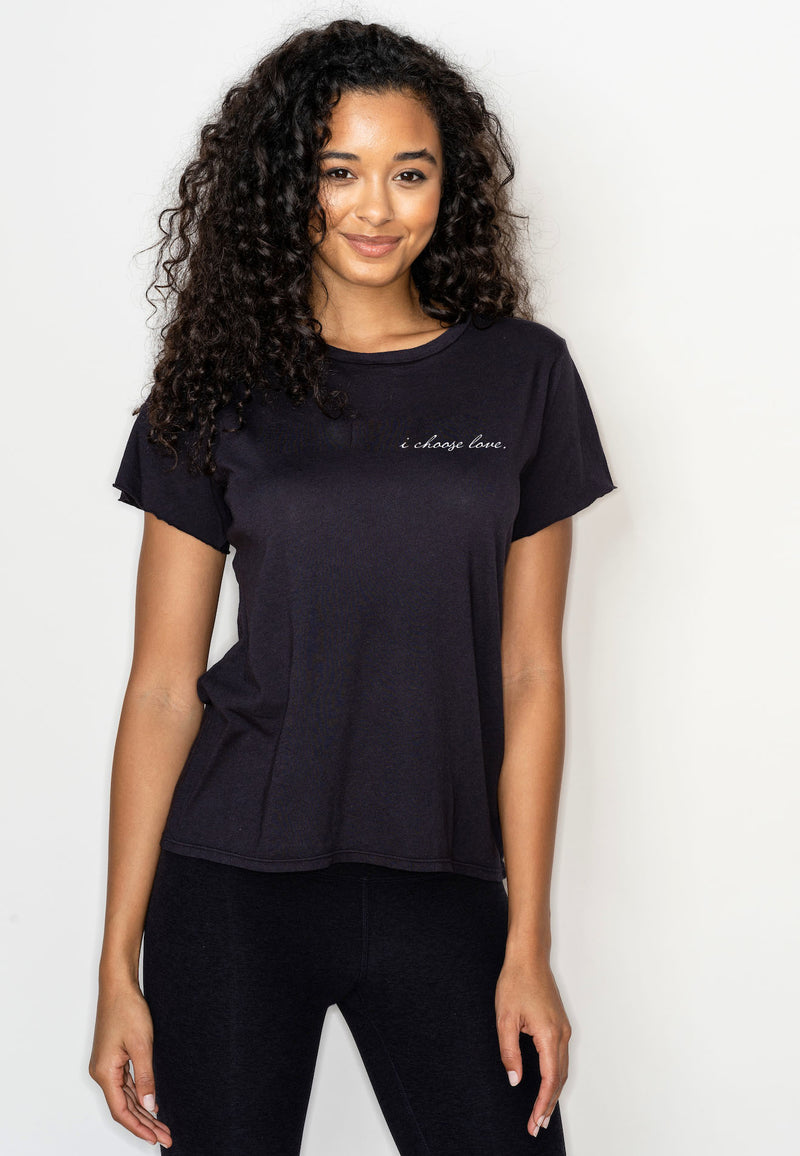 'I CHOOSE LOVE' PERFECT TEE - ZEN BLACK
