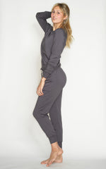 'BLOW YOUR MIND SOFT' FLEECE JOGGER PANT- RABBIT