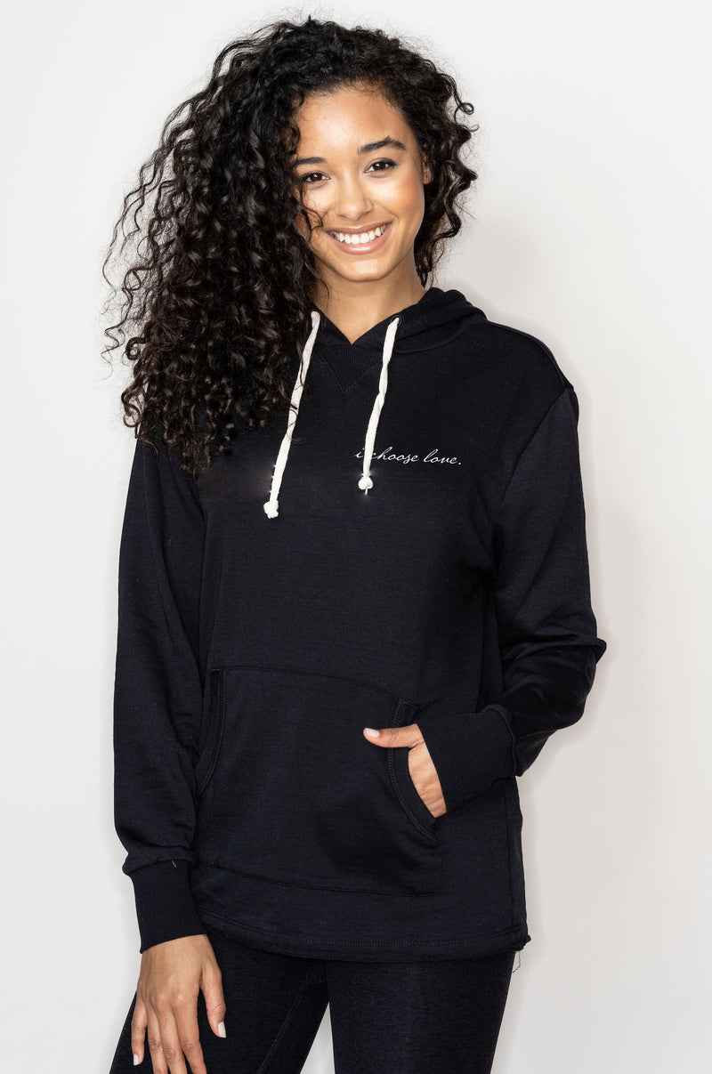UNISEX 'I CHOOSE LOVE' ECO FLEECE PULLOVER HOODIE