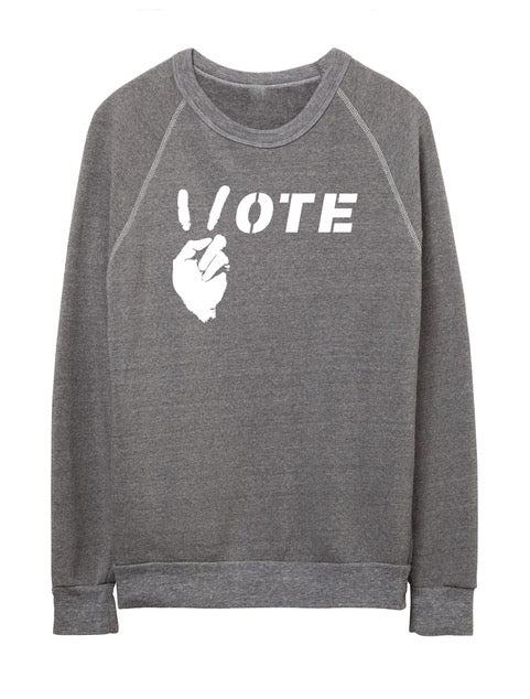 'VOTE' - FLEECE SWEATSHIRT - PRICED TO MOVE!!