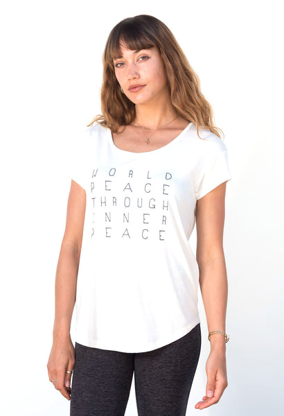 'World Peace Through Inner Peace' LOOSE FIT TEE
