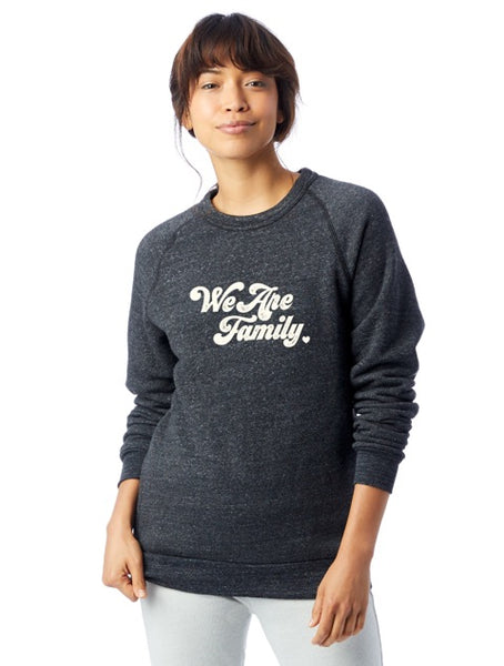 'WE ARE FAMILY' - ECO FLEECE SWEATSHIRT - HEATHER GREY