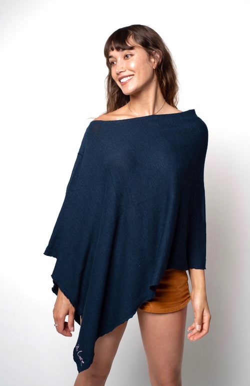 BE LOVE RUANA PONCHO - NORTHERN BLUE