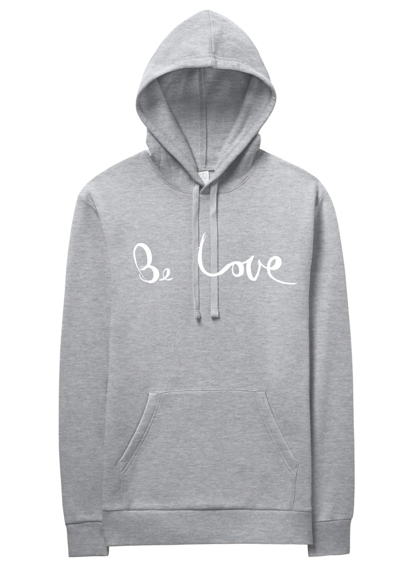 UNISEX 'BE LOVE' ECO FLEECE PULLOVER HOODIE