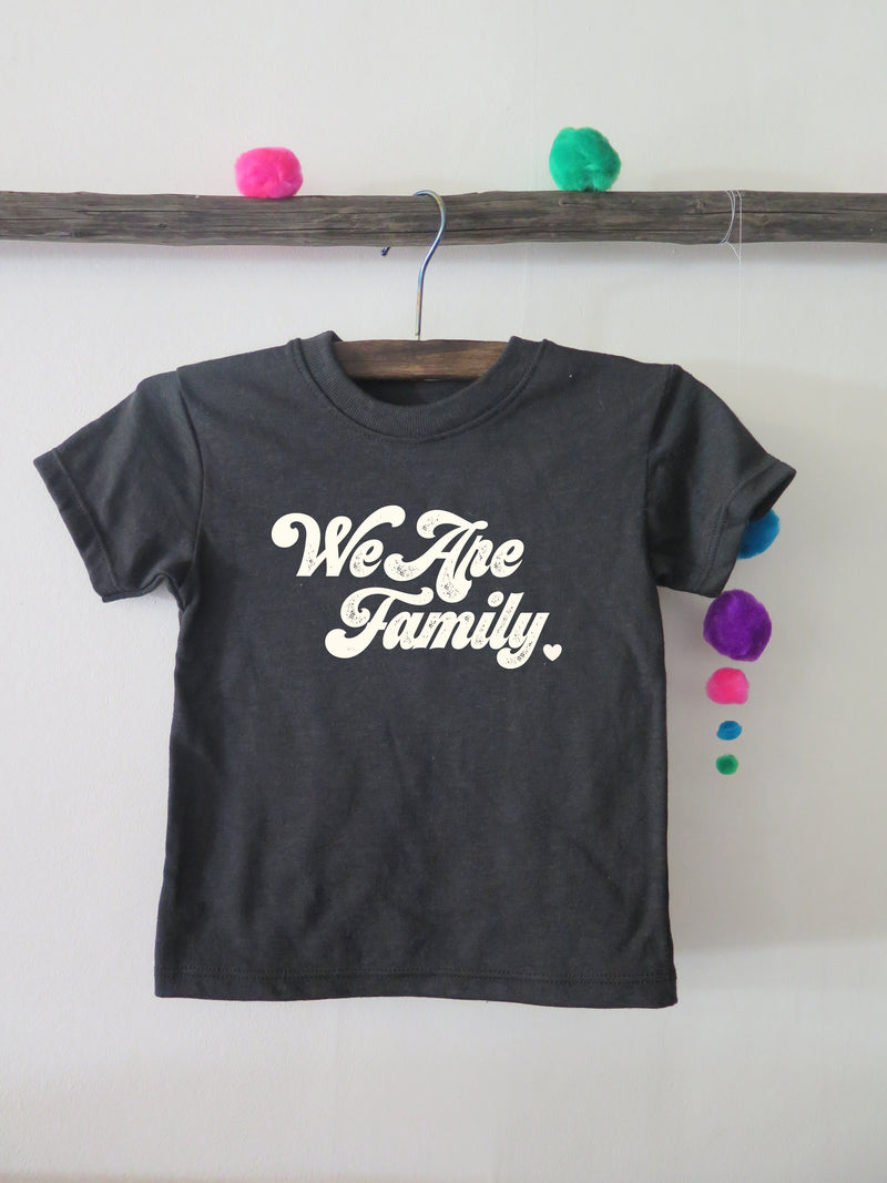 'WE ARE FAMILY' KIDS (black) - ALL PROFITS SUPPORTING UNTIL FREEDOM