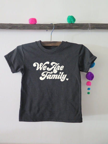 'WE ARE FAMILY' KIDS (black) - PROFITS GIVEN TO TOGETHER RISING