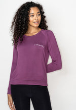 'I Choose Love'  Ultra-Soft Raglan Pullover - Fig