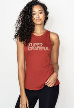 'SUPER GRATEFUL' PERFECT FIT TANK TOP - AMBER