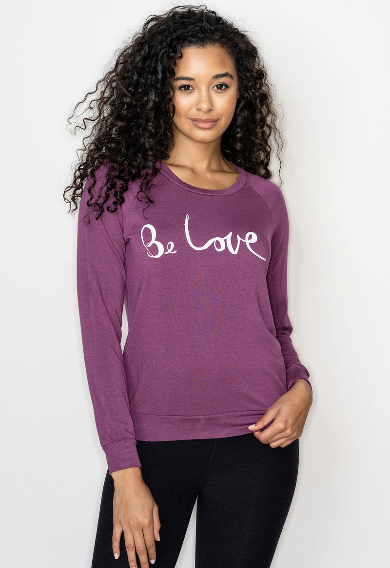 'BE LOVE' ULTRA SOFT RAGLAN PULLOVER - MAGIC FIG