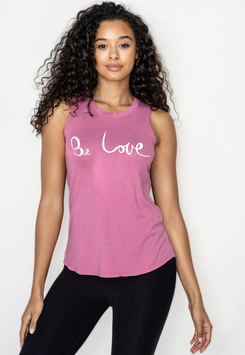 'BE LOVE'  PERFECT TANK - GUAVA