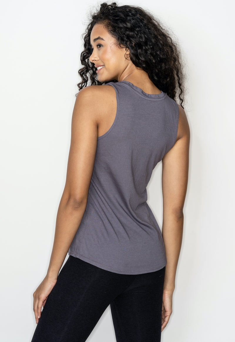 'BE LOVE' PERFECT FIT TANK TOP - STORM