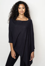 NEW BE LOVE PONCHO!! WITH EMBROIDERY - SLATE BLACK