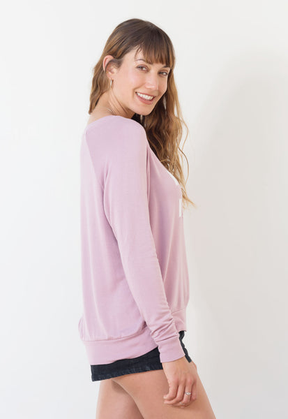 'EARTH LOVER' ULTRA SOFT RAGLAN -cashmere rose