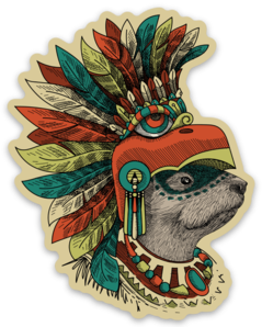 Jungle Warrior Sticker