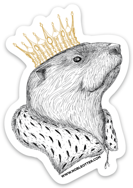 Noble Otter Sticker