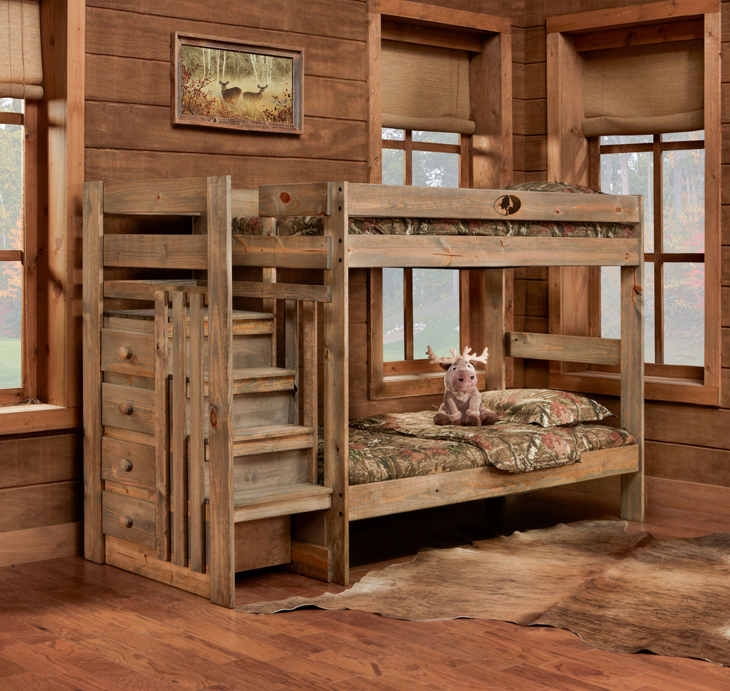 Mossy Oak Twin/Twin Stairstep Bunkned