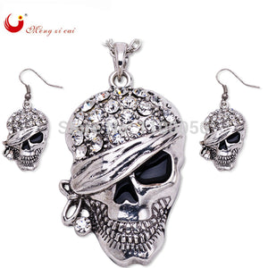 Rhinestone Skull Necklace Men/Women