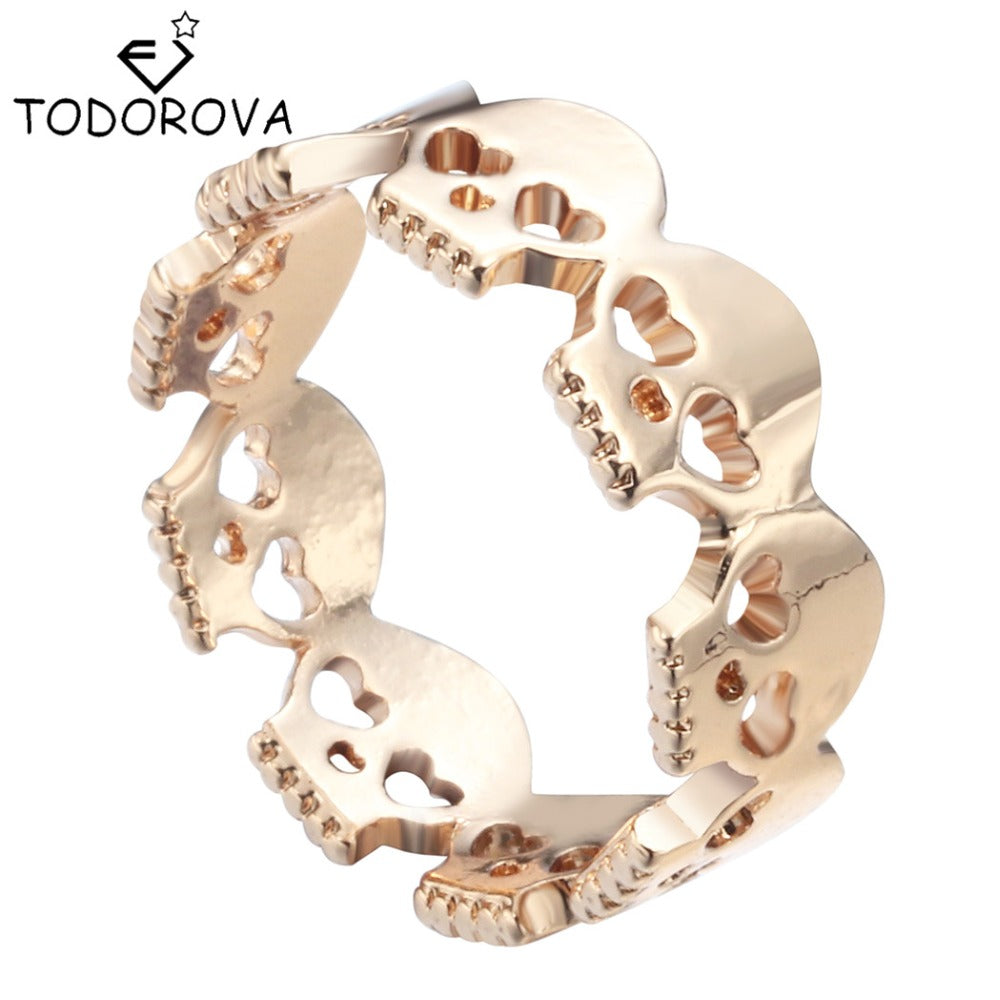 Todorova Gothic Ring Skull Biker Ring Women Personalized Silver/Gold