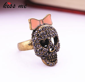 Fashion accessories Bow women's black  Skull ring