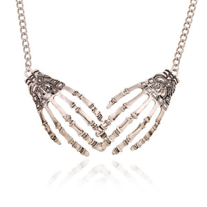LZHLQ Skull Claws Necklace/Pendant Women Silver Color