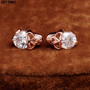 JETTING New Charm Vintage Stud Earrings Women Skull Stud Earrings Fashion Jewery