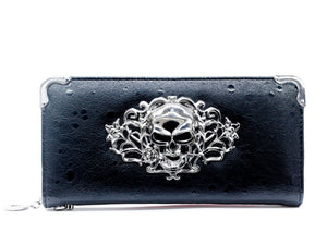 ZENTEII Women Faux Synthetic Leather Skull Wallet Clutch