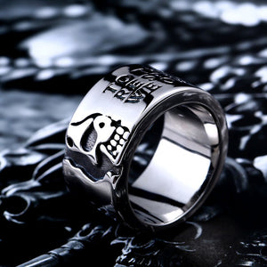 Beier  316L Stainless Steel Quality Gothic Skull Men ring Fashion Jewelry