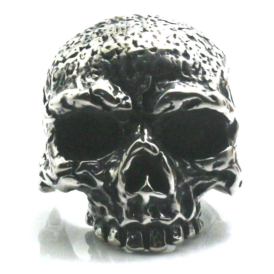 316L Stainless Steel Flaming Skull Ring