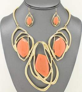 Abstract Necklace Set
