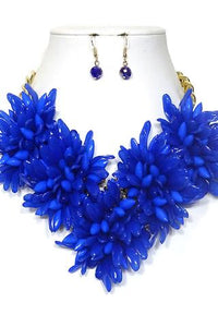 Royal Blue Flower Necklace