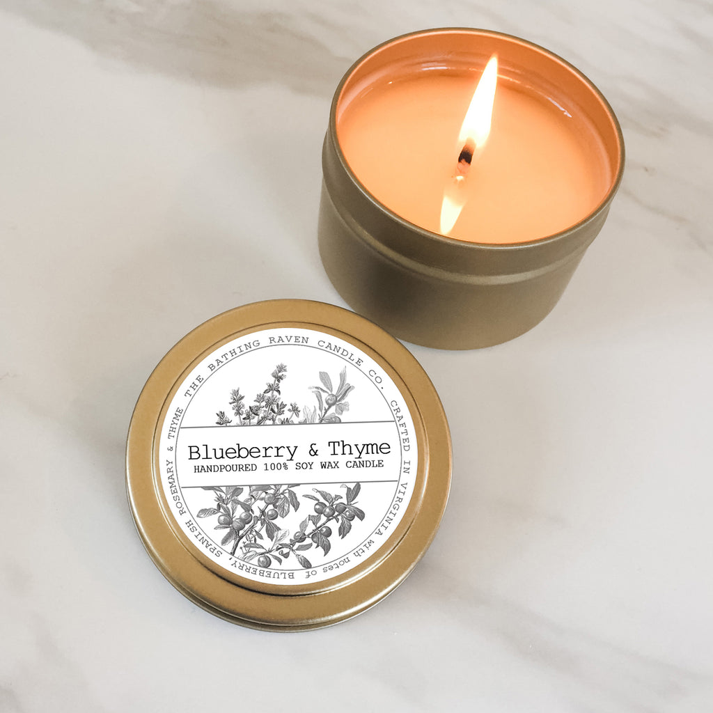 Blueberry & Thyme | Petite Gold Collection Soy Candle
