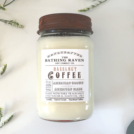 Hazelnut Coffee | Farmhouse Mason Collection Soy Candle