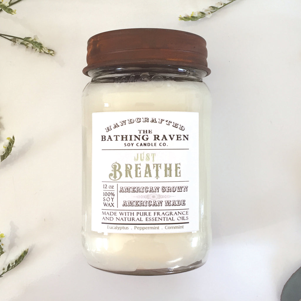 Just Breathe | Farmhouse Mason Collection Soy Candle
