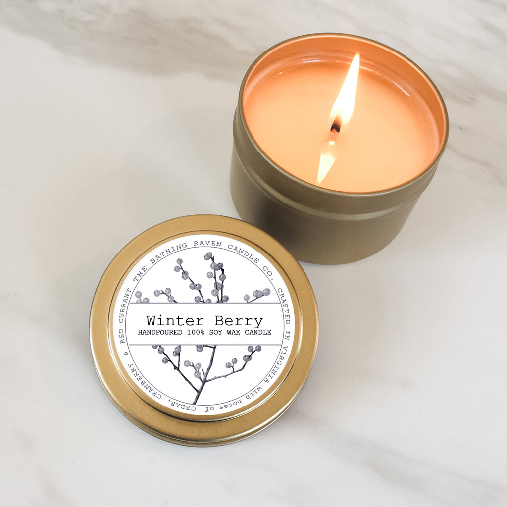 Winter Berry | Petite Gold Collection Soy Candle