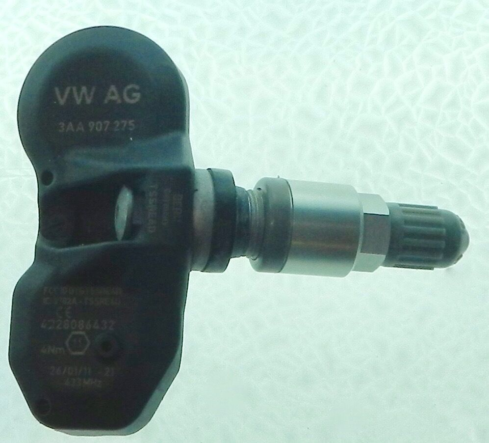 1 Replacement Factory OEM Volkswagen VW TPMS Tire Pressure Sensor 3AA 907 275