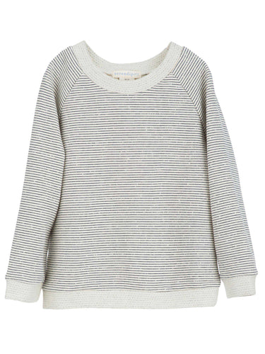 Serendipity Sweatshirt - Offwhite with Navystripes