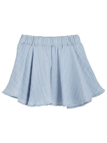 Serendipity Muslin Skirt - Steel Blue