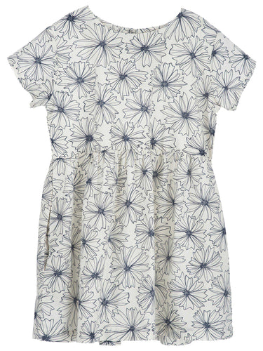 Serendipity Loose Dress - Indigo Flower