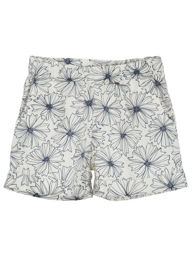 Serendipity Shorts - Indigo Flower
